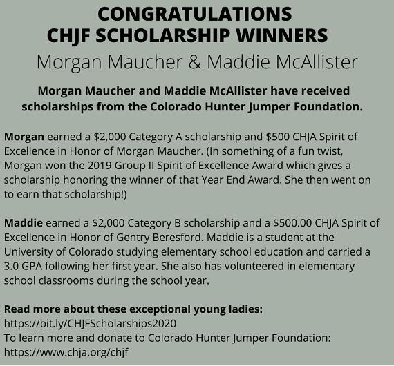 CHJF Scholarship Winners